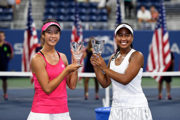 September 10, 2016 - 2016 US Open Junior Championships Girls' Doubles Champions Jada Myii Hart and Ena Shibahara during the 2016 US Open at the USTA Billie Jean King National Tennis Center in Flushing, NY.
