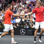 Anderson and Sock Beat Federer and Djokovic, Team Europe Leads Team World 3-1 After Day One of Laver Cup