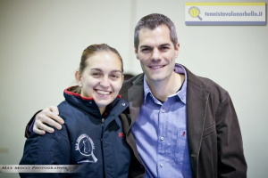 Il presidente Simone Carrucciu assieme a Niko Stefanova (Max Mocci Fotografia)