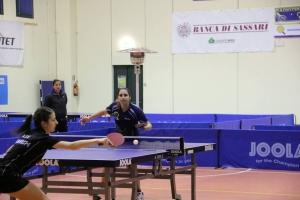 Altra immagine del match tra Papadaki e Piccolin (Foto Gianluca Piu)