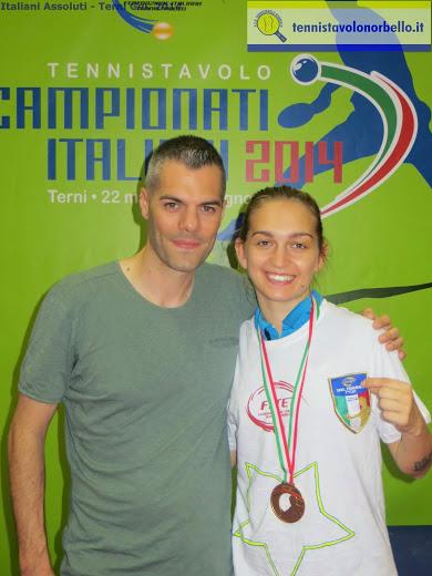 Niko Stefanova assieme al presidente Simone Carrucciu