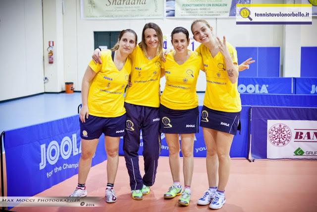 Le vice campionesse d'Italia del Tennistavolo Norbello (Max Mocci Fotografia)