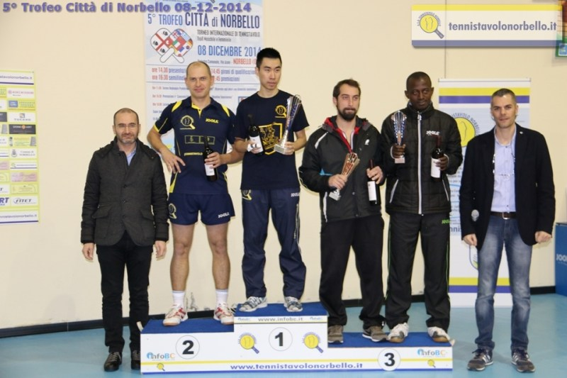Il podio maschile (Foto Gianluca Piu)