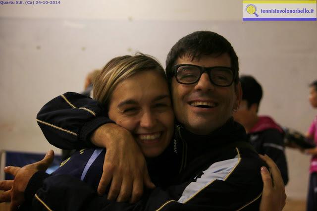 Nikoleta Stefanova con Mauro Mereu Tennistavolo Norbello