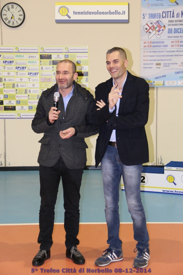 a dx il presidente Carrucciu con il sindaco Antonio Pinna (Foto Gianluca Piu)