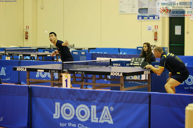 Lu Leyi e Maxim Kuznetsov avversari al Torneo Iternazionale di Norbello (Foto Gianluica Piu)