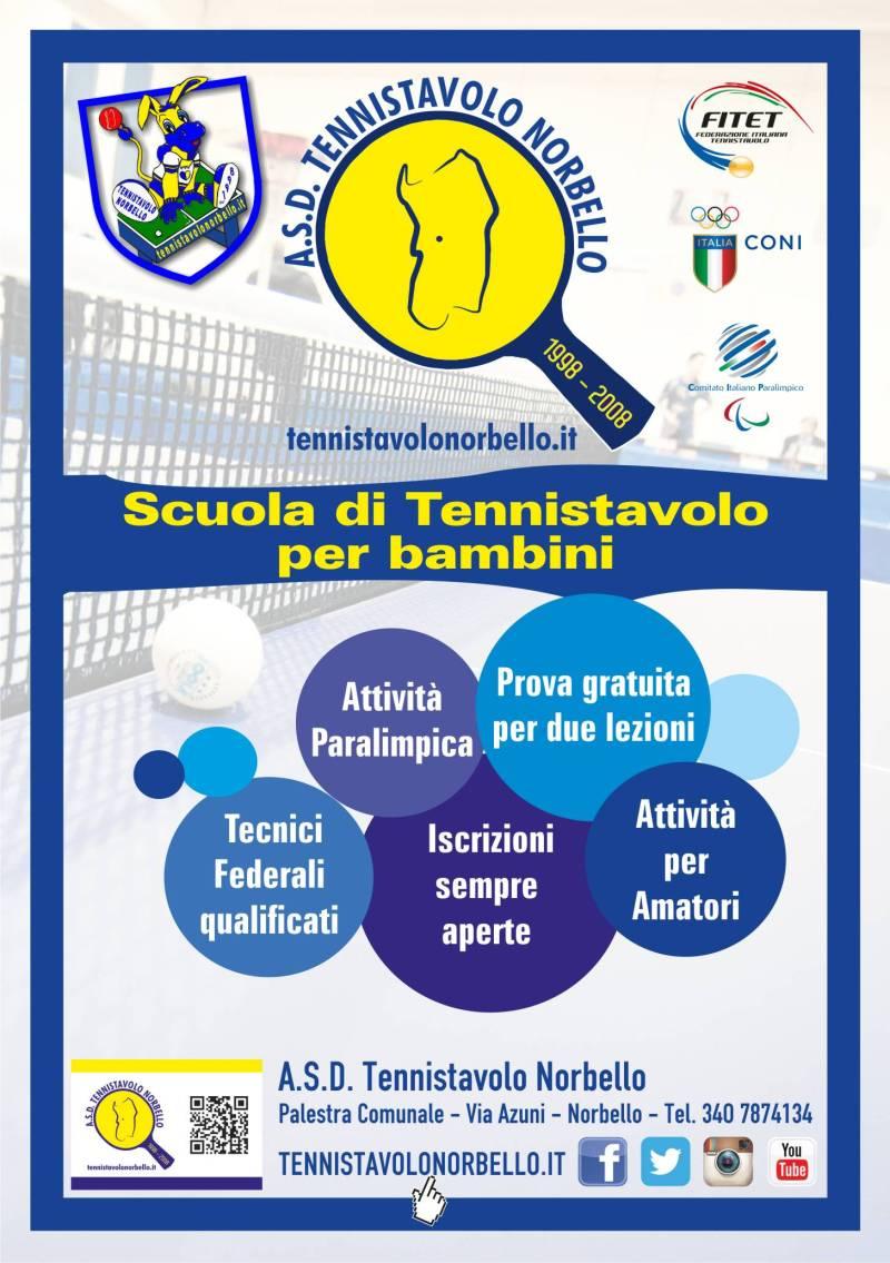 Volantino Tennistavolo Norbello 2015-2016 Fronte