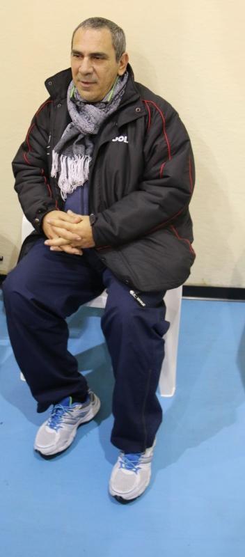 Il neo nonno dirigente Sergio Sanna (Foto Gianluca Piu)