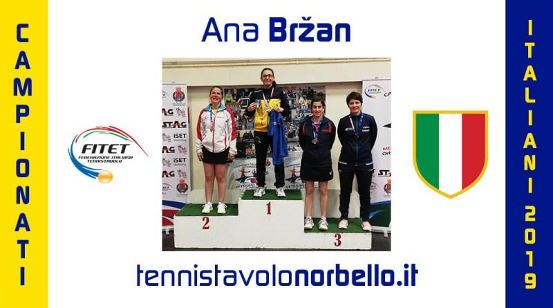Ana Brzan veterana vincente: due ori e un argento agli Italiani in Toscana