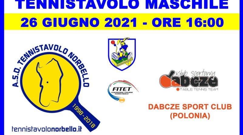 Gara di Coppa Europea Maschile per il Norbello che ospita dalla Polonia Dabcze Sport Club il 26 giugno 2021