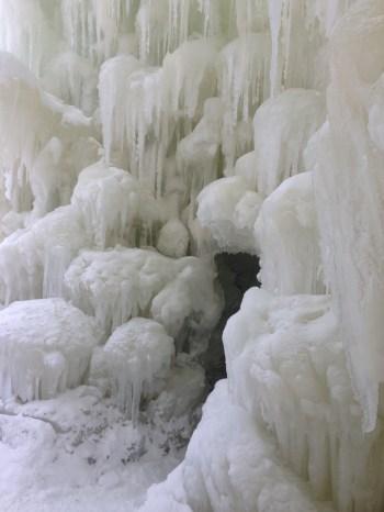 Stratton Ice Castle Cave Entrance
