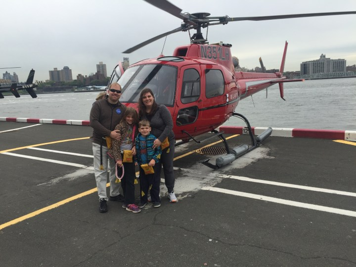 Family in front of the Helicopter