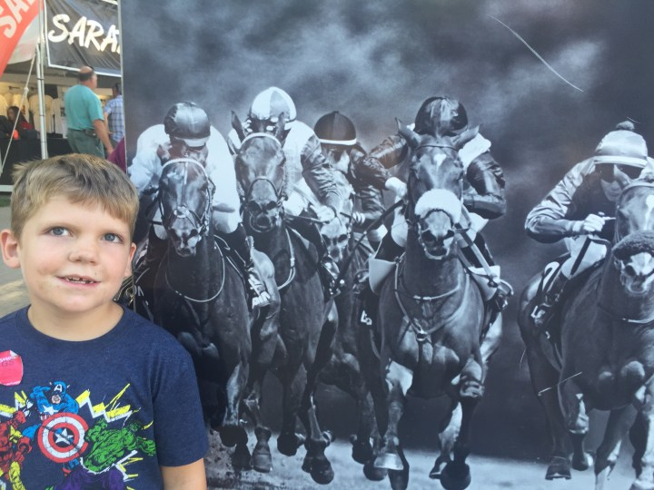 Edward at the races