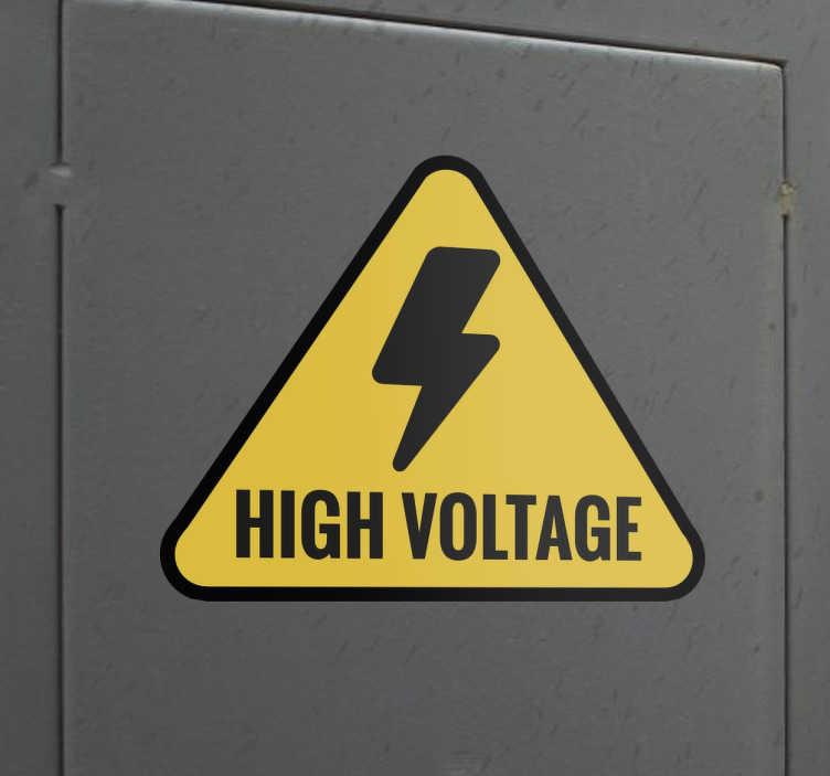 High Voltage Sign Sticker TenStickers