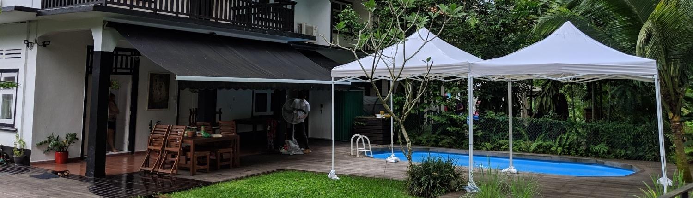white portable gazebo tent 3m x 3m