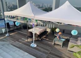 rooftop portable gazebo tent