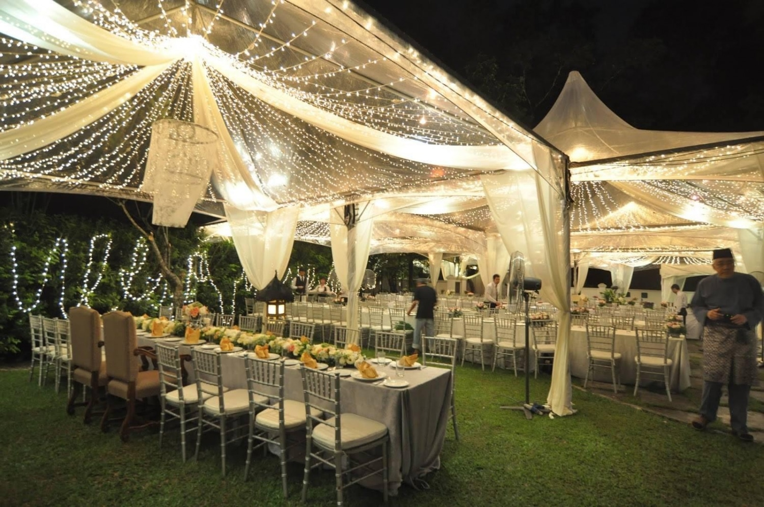 Transparent Gazebo tent with fairy lights