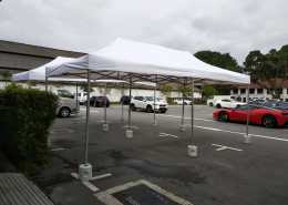 3m x 6m portable tent at dempsey