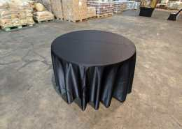 4ft round table black table cloth
