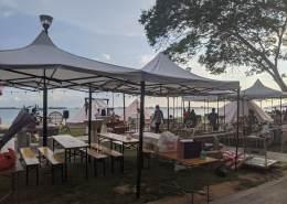 wedding tent at east coast park
