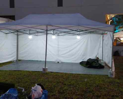 3m x 6m portable tent with portable light