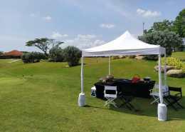 Column wrapped portable tent audemars piguet golf event