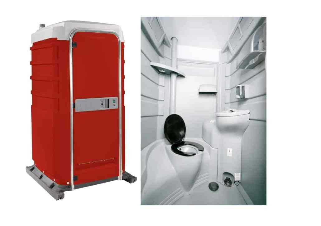 Self contained portable toilet