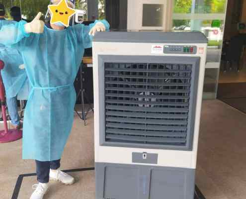 Air cooler for hospital swab test site