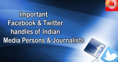 Facebook and Twitter handles of Important Indian Media persons and Journalists