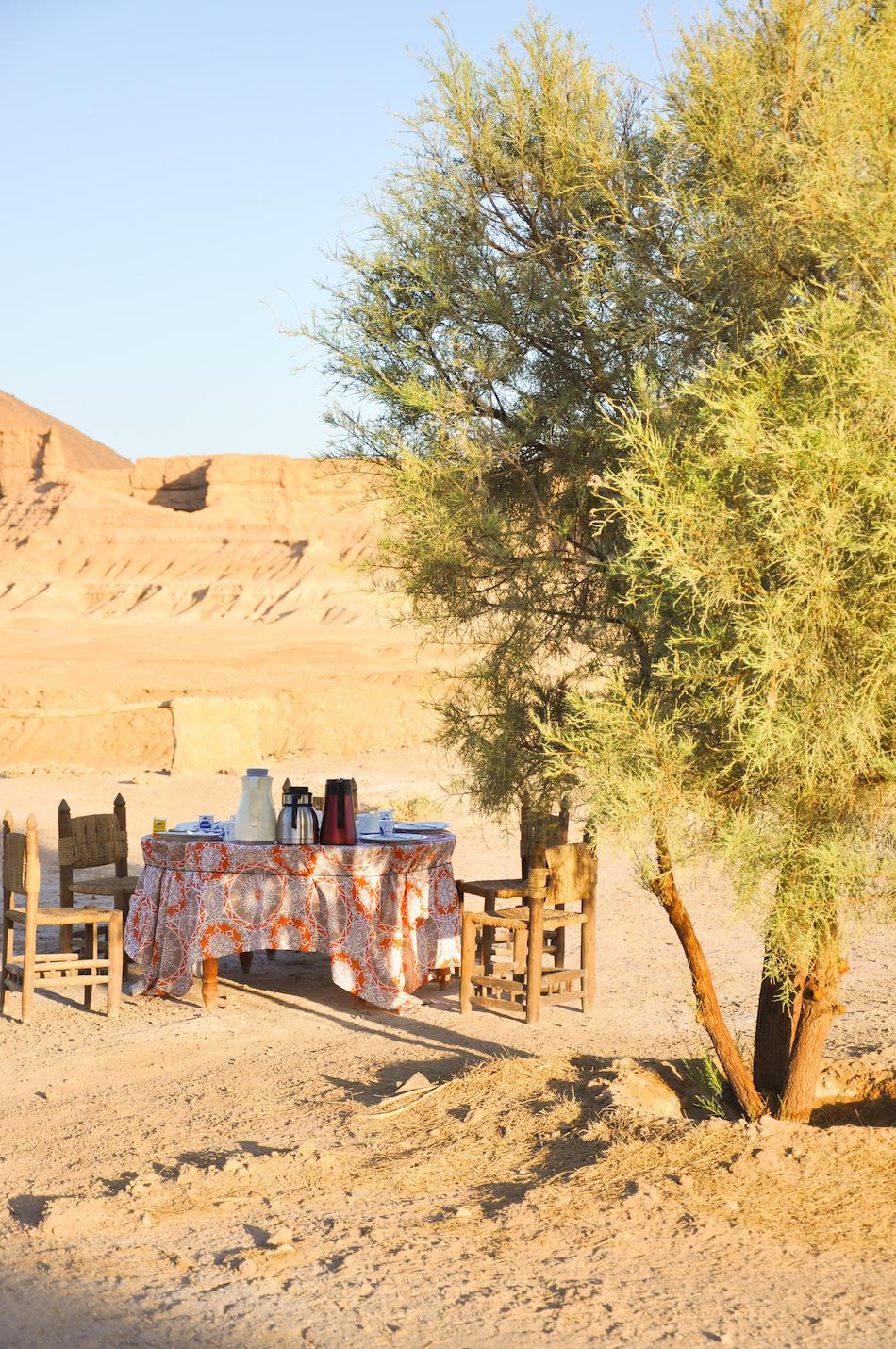 Petit déjeuner campement Akka N'ait Sidi Tissint