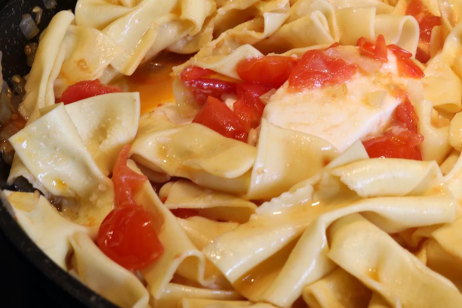 Farfalles sauce tomates fraiches