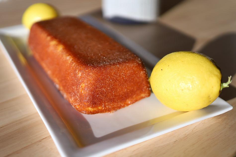 Le cake ultime au citron avant dégustation