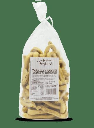 Linea Fatti a Mano - Taralli a goccia ai semi di finocchio