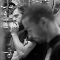Photo by Mario Bartel Brewmaster Peter Schulz ponders the day's batch of red pilsner.