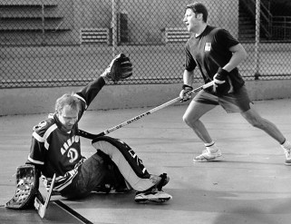 In the earliest days of Sunday Morning Road Hockey, everybody played net; including me!