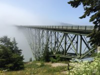 On the way to Fort Ebey, through Deception Pass