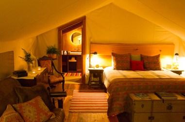 inside ensuite tent