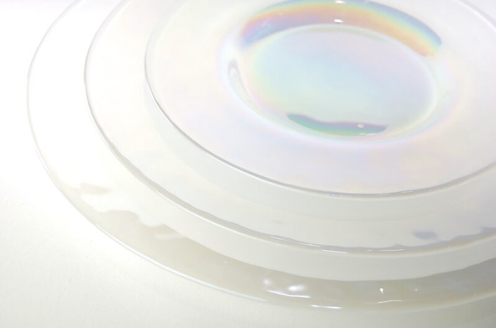 table setting rentals- Luster Glass China