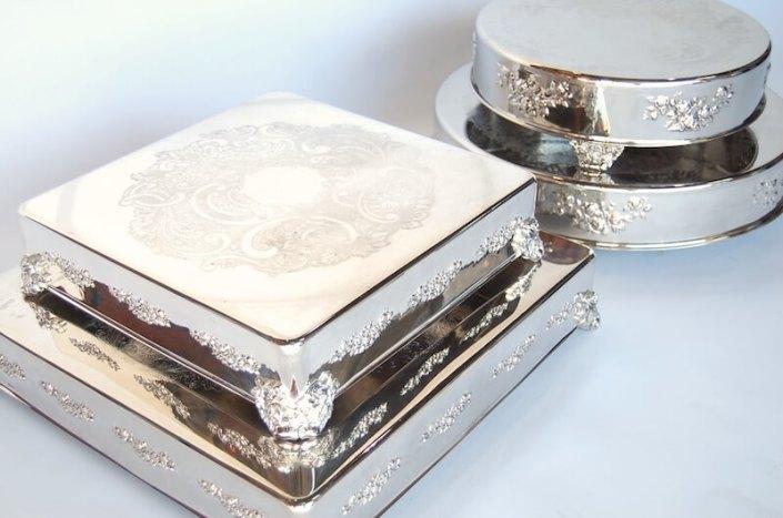 Wedding Rentals- Sterling Silver Cake Stands