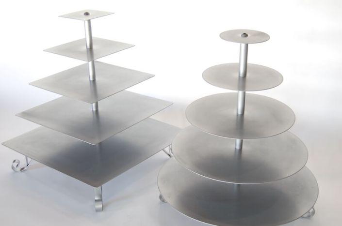Wedding Rentals- 5-Tier Silver Cupcake Stand