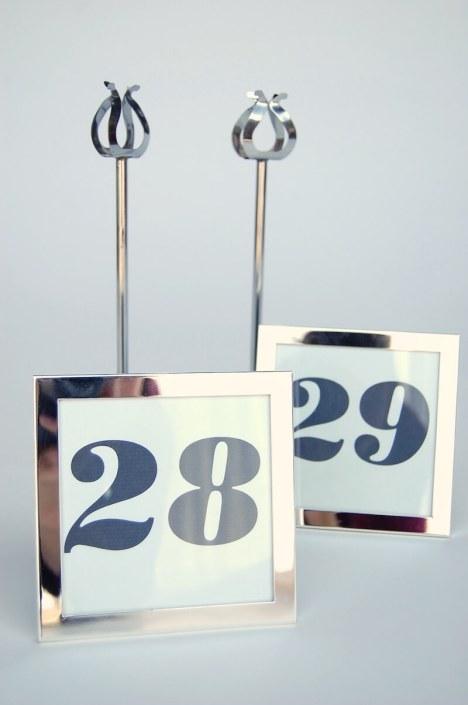 Wedding Rentals- Table Number Frames & Silver Stands