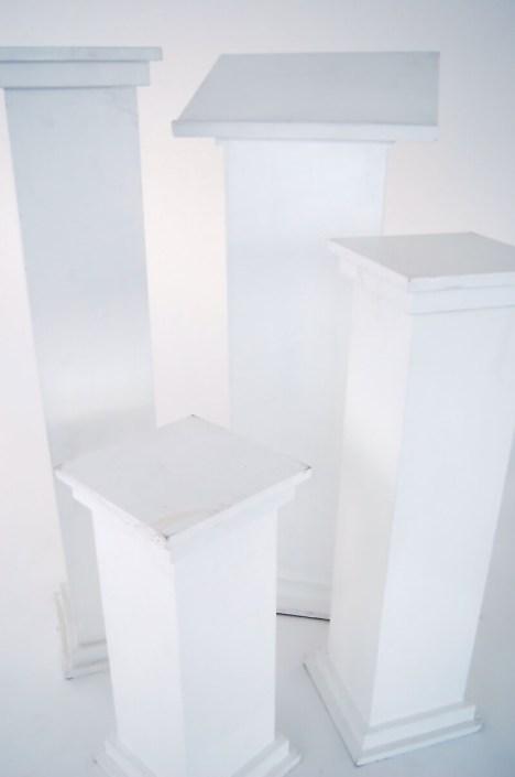 Wedding Rentals- White Wooden Flower Stands