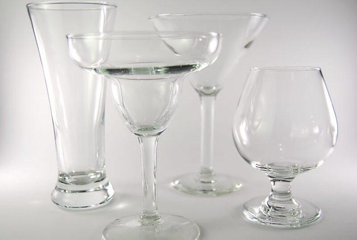 Table setting rentals- Bar Glassware