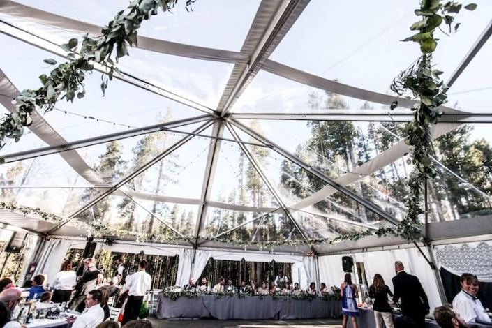 Clear Top NaviTrac Wedding Tent