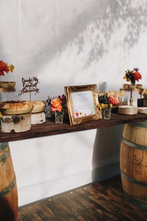 Rustic Whiskey Barrel Dessert Table
