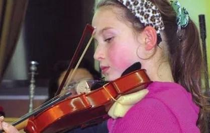 A budding violinist