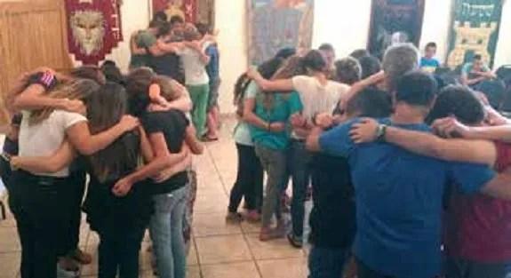 Small group prayer