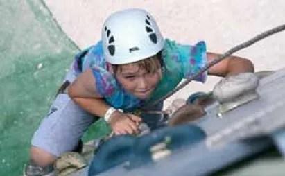 Climbing wall fun