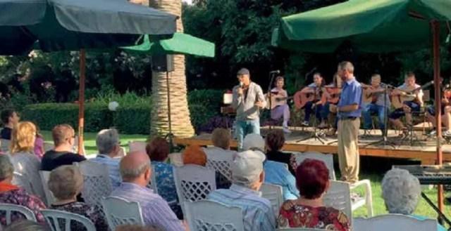 Our musician children blessing Holocaust survivors