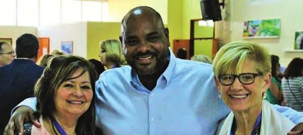 With congregational leader Avishalom